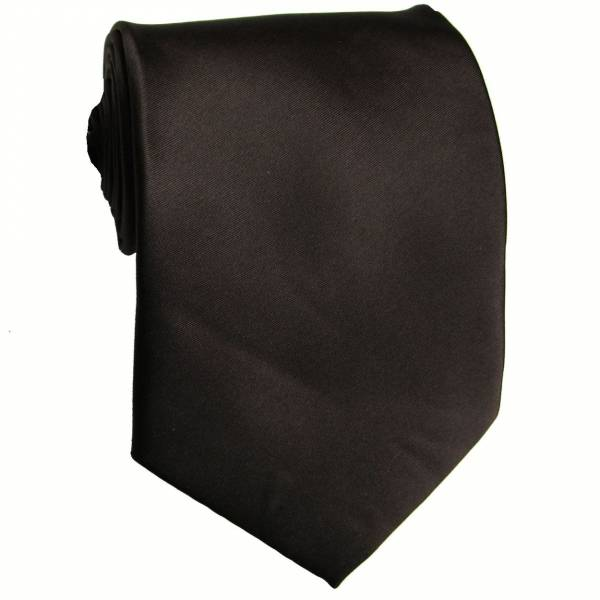 Chocolate Solid Tie Regular