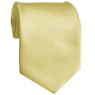 Cream Solid Tie Regular