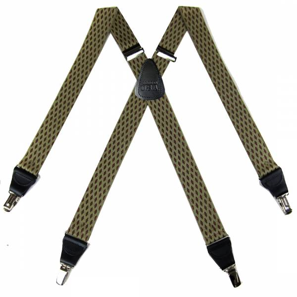 Check Suspenders 1.50 inch Made in U.S.A