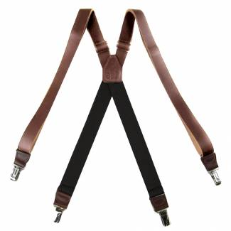 Leather Suspender 1.00 inch Made in U.S.A