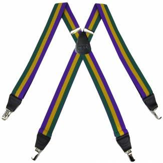 Striped Suspenders 1.50 inch Made in U.S.A