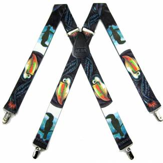 Toucan Suspenders 1.50 inch Made in U.S.A