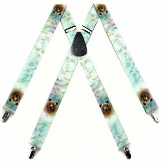 Cheetah Suspenders 1.50 inch Made in U.S.A