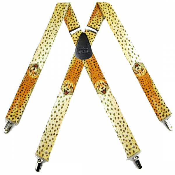 Cheetah Suspenders 1.50 inch Made in U.S.A