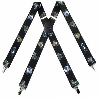 Cat Suspenders 1.50 inch Wide
