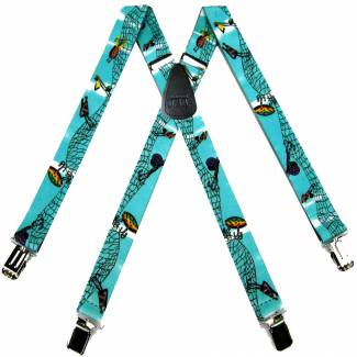Fish Suspenders 1.50 inch Wide