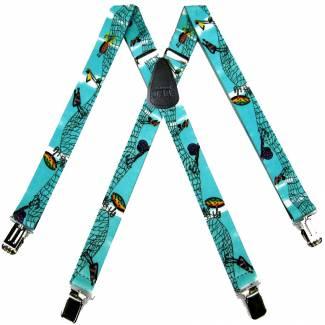 Fish Suspenders 1.50 inch Wide