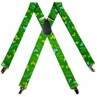 St. Pats Suspenders 1.50 inch Wide
