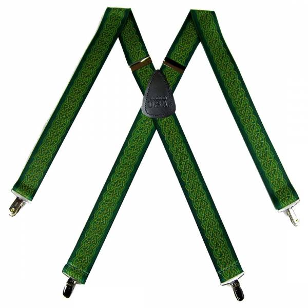 Celtic Suspenders 1.50 inch Made in U.S.A