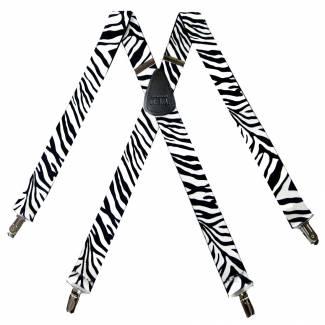 Zebra Suspenders 1.50 inch Made in U.S.A