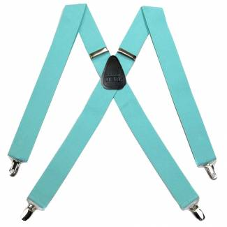 Solid Suspenders 1.50 inch Made in U.S.A Suspenders