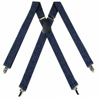 Denim Suspenders 1.50 inch Made in U.S.A
