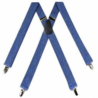 Denim Suspenders 1.50 inch Made in U.S.A