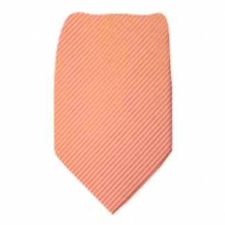 Peach Solid Tie Regular