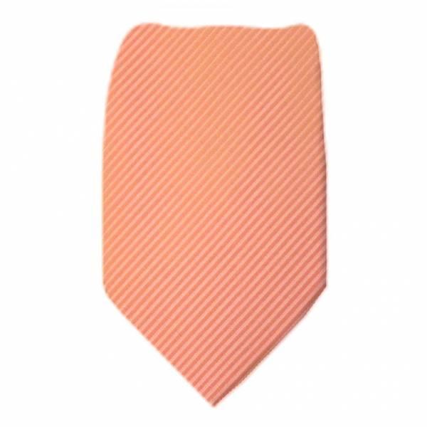 Peach Solid Tie Regular