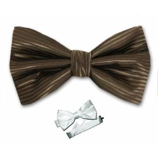 Brown Pre Tied Bow Tie