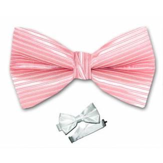 Pink Pre Tied Bow Tie
