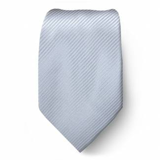 Silver Solid Tie Regular