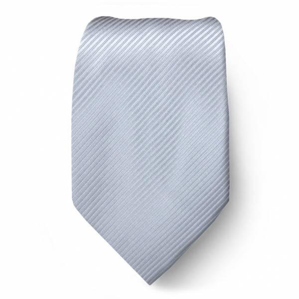 Silver Solid Tie Regular