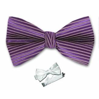Purple Pre Tied Bow Tie Microfiber