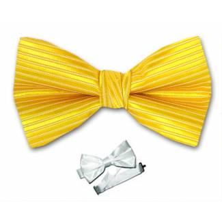 Gold Pre Tied Bow Tie