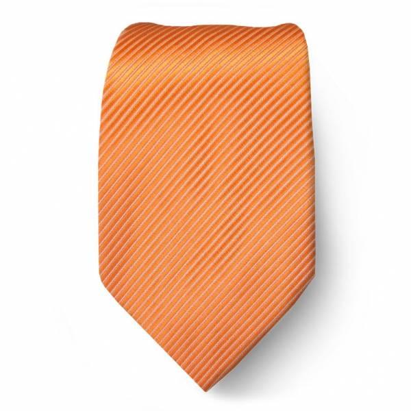 Orange Solid Tie Regular