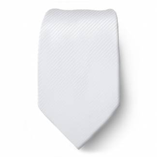 Pure White Solid Tie Regular