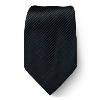 Black Solid Tie Regular