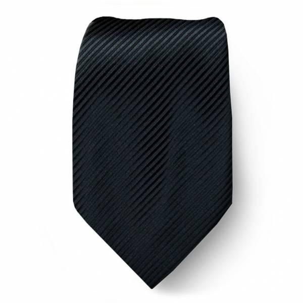 Black Solid Tie Regular