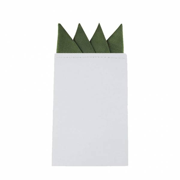 Olive Pre Folded Pocket Square
