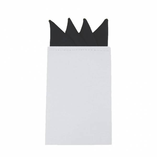 Black Pre Folded Pocket Square