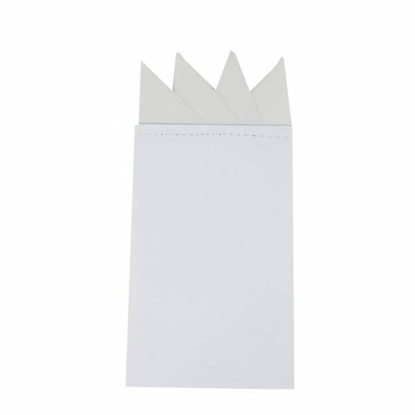 Black Pre Folded Pocket Square Fashion