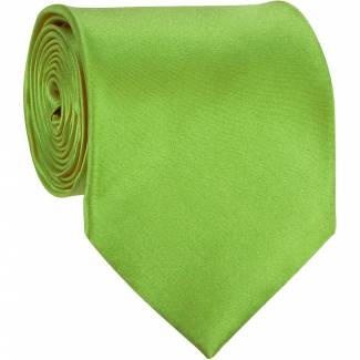 Solid Mens Tie Apple Regular