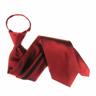 Red XL Solid Zipper Tie Zipper Ties