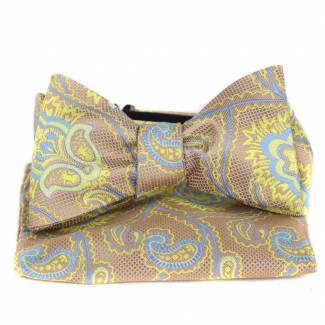 Self Tie Bow Tie & Hanky Bow Ties - Self Tie & Hanky