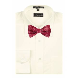 Shirt & Self Tie Bow Mens Shirt & Bow Tie