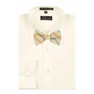 Shirt & Self Tie Bow Mens Shirt & Bow Tie