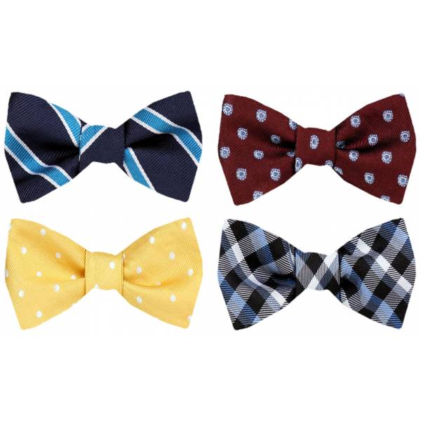 Self Tie Bow Tie Pack Self Tie - Assorted Packs