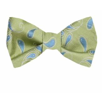 Self Tie Bow Tie Blue Self Tie