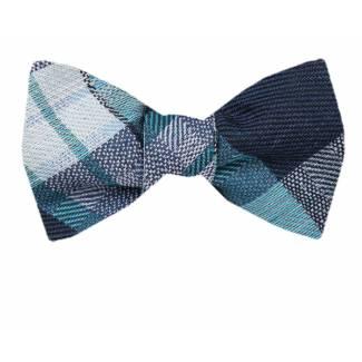 Self Tie Bow Tie Blue Self Tie
