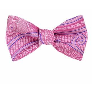 Silk Self Tie Bow Tie Bow Ties - Self Tie