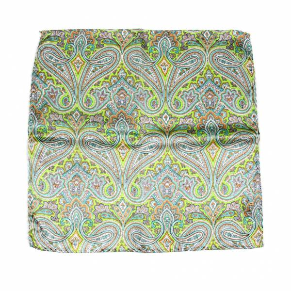 Green Aficionado Silk Pocket Square