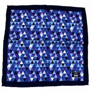 Navy Aficionado Silk Pocket Square