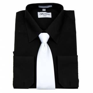 Mens Shirt Black Mens Shirt & Tie