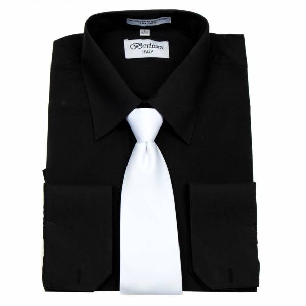 Mens Shirt Black Mens Shirt & Tie