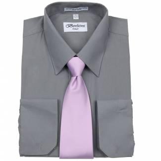 Mens Shirt Charcoal Mens Shirt & Tie