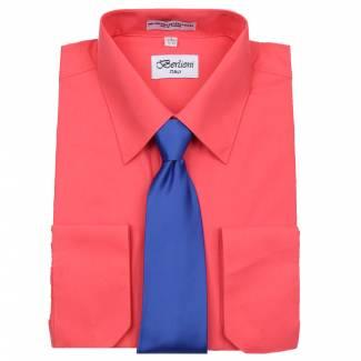 Mens Shirt Coral Mens Shirt & Tie