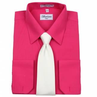 Mens Shirt Fuchsia Mens Shirt & Tie