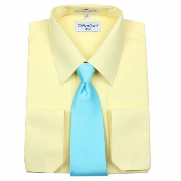 Mens Shirt Lemon Mens Shirt & Tie