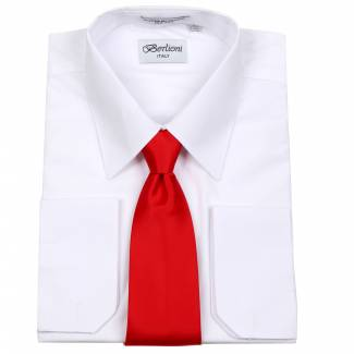 Mens Shirt White Mens Shirt & Tie